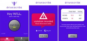 DriveScribe Screenshots 300x142 Texting and Driving? Phone Apps to Help You Reconsider